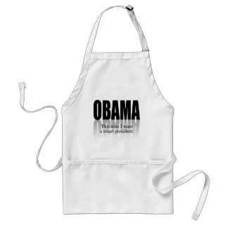 OBAMA: THIS TIME I WANT A SMART PRESIDENT STANDARD APRON