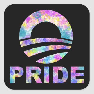 Obama Tie Dye Rainbow Gay Pride Sticker