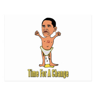 Obama Time For A Change Postcard