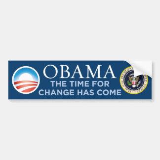 Obama - Time For Change Has Come Bumper Sticker