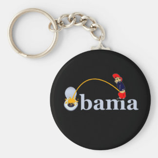 Obama (toilet) basic round button key ring