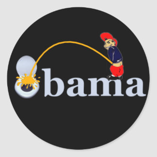 Obama (toilet) classic round sticker