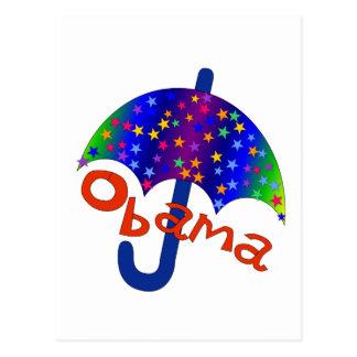Obama Umbrella Inauguration Memento Postcard