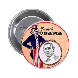 Obama Uncle Sam Button