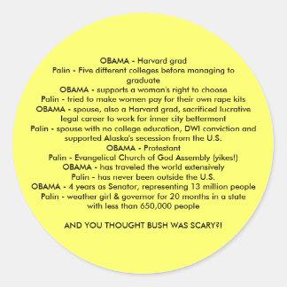 OBAMA v Palin Stickers