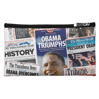 Obama Victory 2008/2012 Medium Sueded Bag Cosmetic Bags