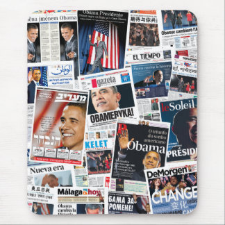 Obama Victory International Front Page Collage Mouse Pad