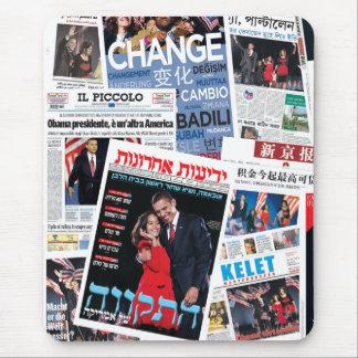 Obama Victory International Headline Collage Mouse Mat