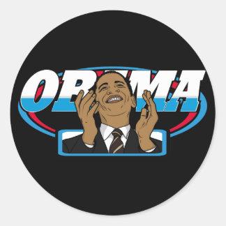 Obama Victory Round Sticker