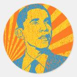 Obama Vintage Round Sticker
