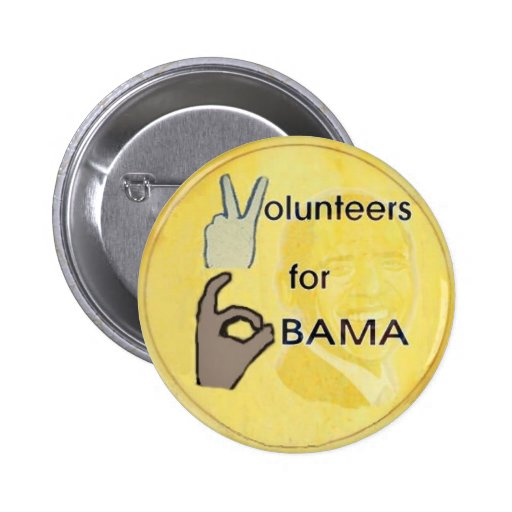 Obama Volunteer Button