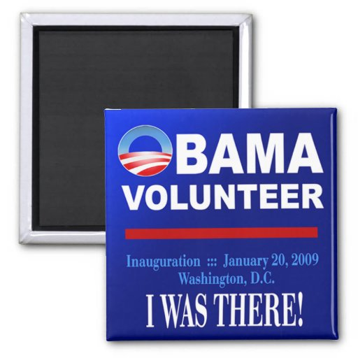 Obama Volunteer Magnet (navy)