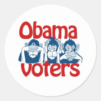 Obama Voters Round Sticker