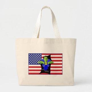 Obama vs America Large Tote Bag