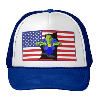 Obama vs America Trucker Hats