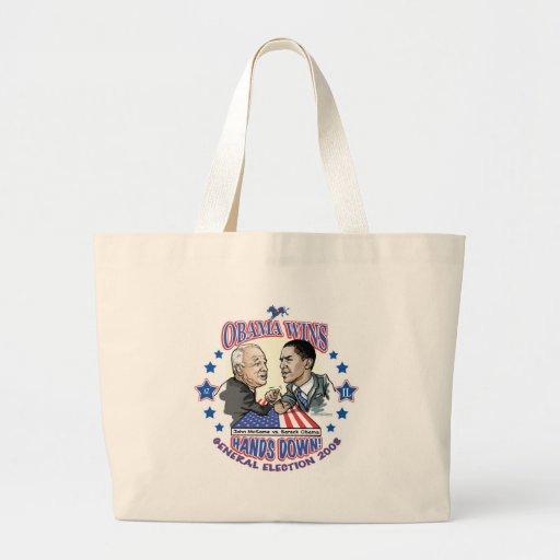 Obama vs McCain Election 2008 Tote Bags