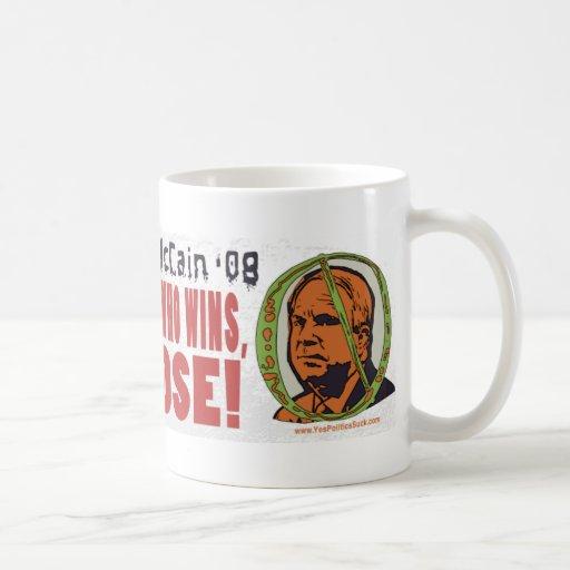 Obama vs McCain We Lose Mug