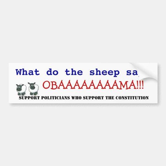 Obama vs the Constitution Bumper Sticker