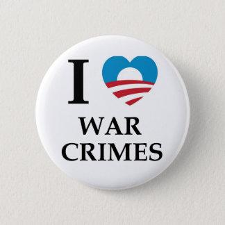Obama War Crimes 6 Cm Round Badge