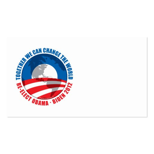 Obama: We Can Change The World Business Card Template