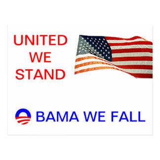 obama we fall postcard