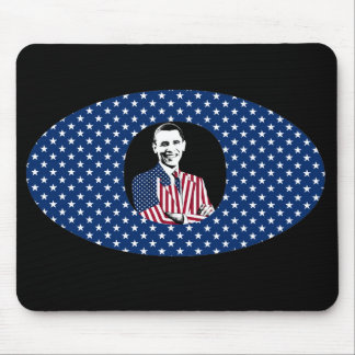 Obama wearing an American Flag Jacket Mouse Pad