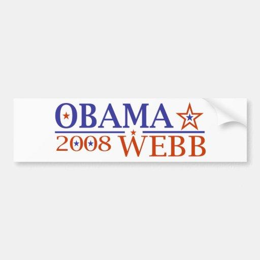 Obama Webb 08 Bumper Stickers