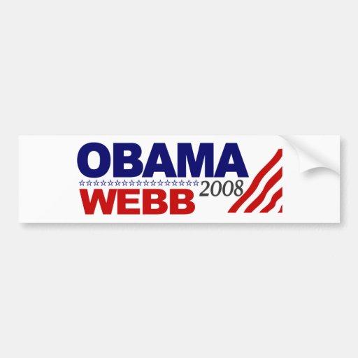 Obama Webb 2008 Bumper Sticker