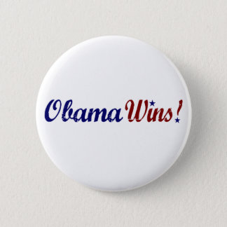 Obama Wins 2008 6 Cm Round Badge