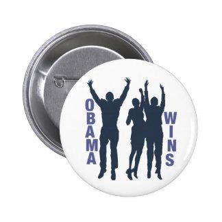 Obama Wins 6 Cm Round Badge