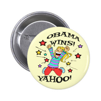 OBAMA WINS BUTTONS