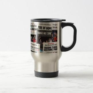 Obama Wins! Historic Newspaper Mug