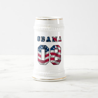 obama with american flag beer steins