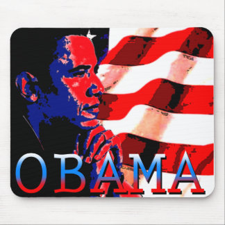 Obama with American Flag Mouse Pads