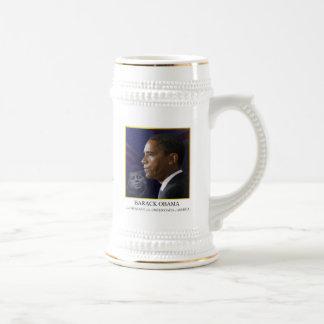 Obama with JFK - Stein Mug