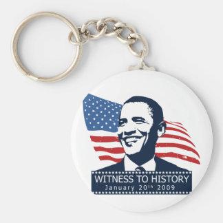 Obama Witness To History Keychain