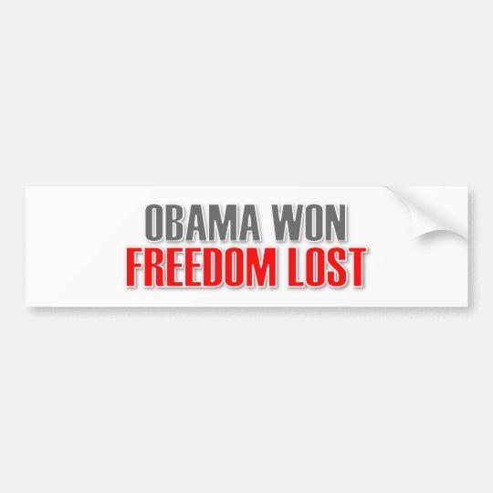 Obama Won Freedom Lost Bumper Sticker