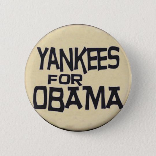 Obama Yankees Button