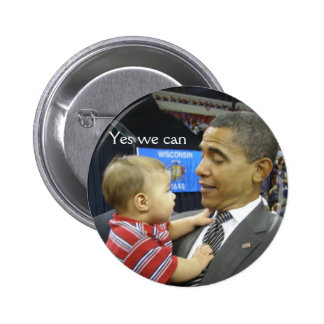 OBAMA Yes we can 6 Cm Round Badge
