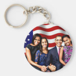 Obama,Yes We Can_ Basic Round Button Key Ring