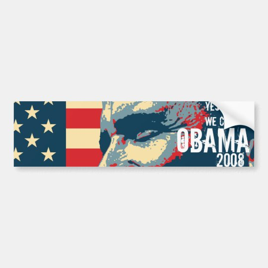 "Obama ""yes we can"" bumper sticker"