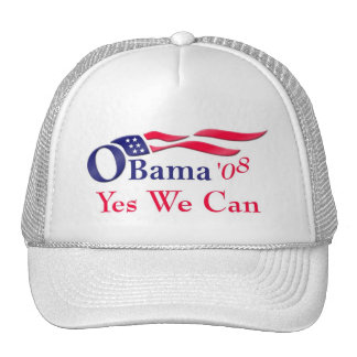 Obama Yes We Can Cap Mesh Hat
