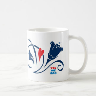 Obama - Yes We Can, Love Blossoms Mug, classic