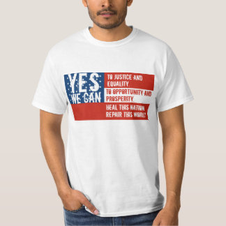OBAMA - YES WE CAN - USA FLAG TEE SHIRTS