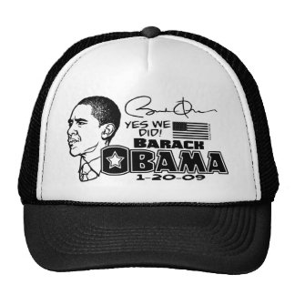 Obama Yes We Did 2009 Gear Cap