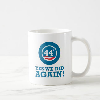 Obama - Yes We Did AGAIN Basic White Mug