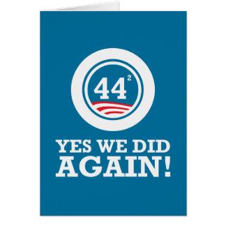Obama - Yes We Did AGAIN Card