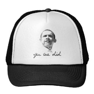 Obama: Yes We Did Mesh Hats