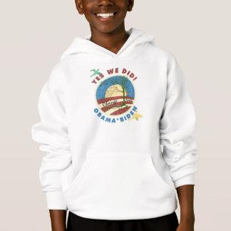 Obama Yes We Did Vintage Kids Hooded Sweatshirt