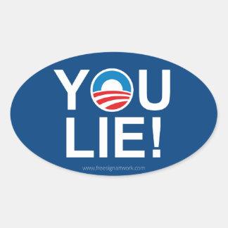 Obama You Lie -- Antiobama Oval Sticker